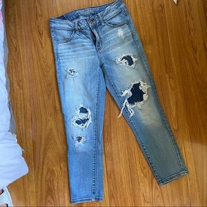 AE Cropped Distressed Skinny Jeans